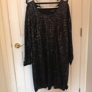 Dresses & Skirts - Love and legged sequins black dress size 22